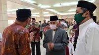 AGH Sanusi Baco bersama Gubernur Sulsel Nurdn Abdullah. (Ist)