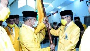 Bupati Jeneponto Iksan Iskandar kembali terpilih sebagai Ketua Golkar Jeneponto, Minggu 2 Mei 2021. (Ist)