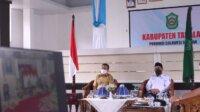 Bupati Takalar Syamsari Kitta bersama Wabup Achmad Se're sedang mengikuti rakor virtual bersama Presiden Jokowi, Senin 17 Mei 2021. (Ist)