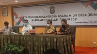 Bupati Takalar Syamsari Kitta di acara lokakarya pengembangan Bumdes di Hotel Almadera Makassar, Senin 21 Juni 2021. (Ist)
