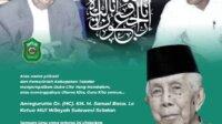 Bupati Takalar Syamsari Kitta mengucapkan belasungkawa atas meninggalnya Ketua MUI Sulsel AGH KH Sanusi Baco, Sabtu 15 Mei 2021. (Ist)