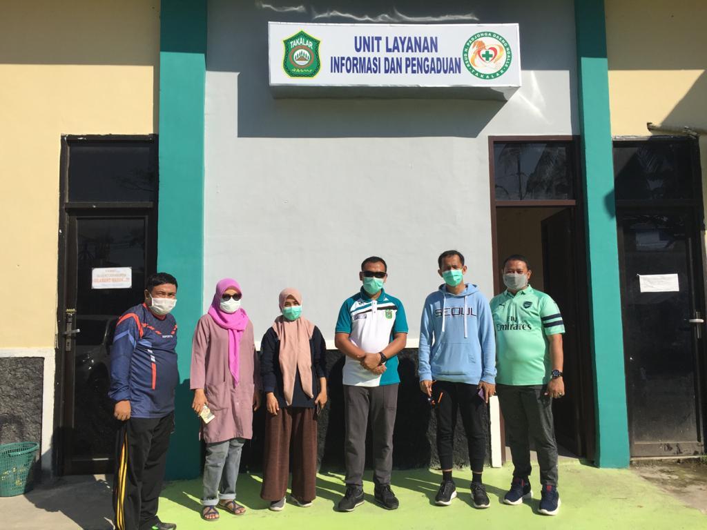 Bupati Takalar Syamsari Kitta meresmikan Unit Informasi dan Pengaduan RSUD Haji Padjonga Daeng Ngalle, Minggu 2 Agustus 2020. (Ist)