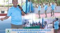 Bupati Takalar Syamsari Kitta meresmikan lapangan tenis Ibrahim Tulle, Sabtu 21 Agustus 2021. (Ist)
