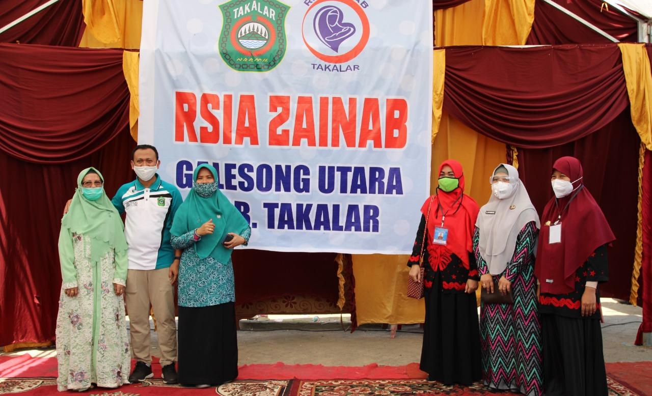 Bupati Takalar Syamsari Kitta resmi mengoperasikan RSIA Zainab di kelurahan Bontolebang, kecamatan Galesong Utara, Jumat 10 Juli 2020. (Ist)