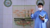 Bupati Takalar Syamsari Kitta saat membacakan khutbah Jumat di masjid Rujab Bupati, Jumat 10 Juli 2020. (Ist)