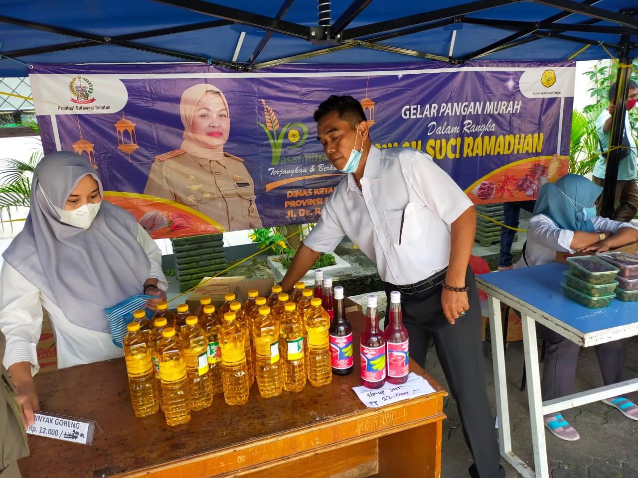 Dinas Ketahanan Pangan menggelar pangan murah di bulan Ramadhan, Rabu 21 April 2021. (Ist)