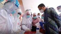 Dinkes Gowa menggelar RDT (Rapid Diagnostic Test) di Pasar Sentral Sungguminasa. (Int)