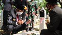 Gubernur Sulsel Nurdin Abdullah memperingati Hari Pahawan di TMP Panaikang, 10 November 2020. (Ist)
