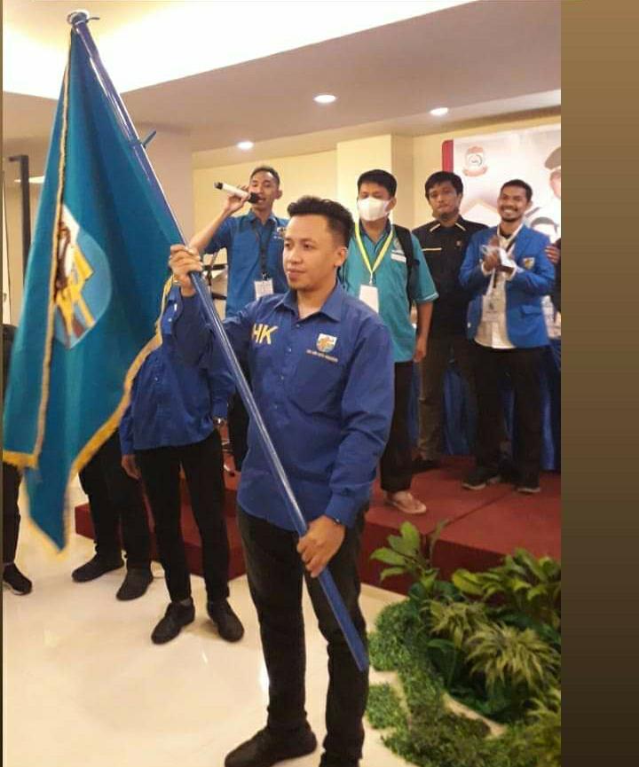Hasrul Kaharuddin terpilih secara aklamasi memimpin KNPI Makassar, Senin 12 April 2021. (Ist)