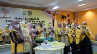 KPPG Sulsel menggelar halal bi halal sebagai rangkaian ulang tahun ke 19, Minggu 23 Mei 2021 malam. (Ist)