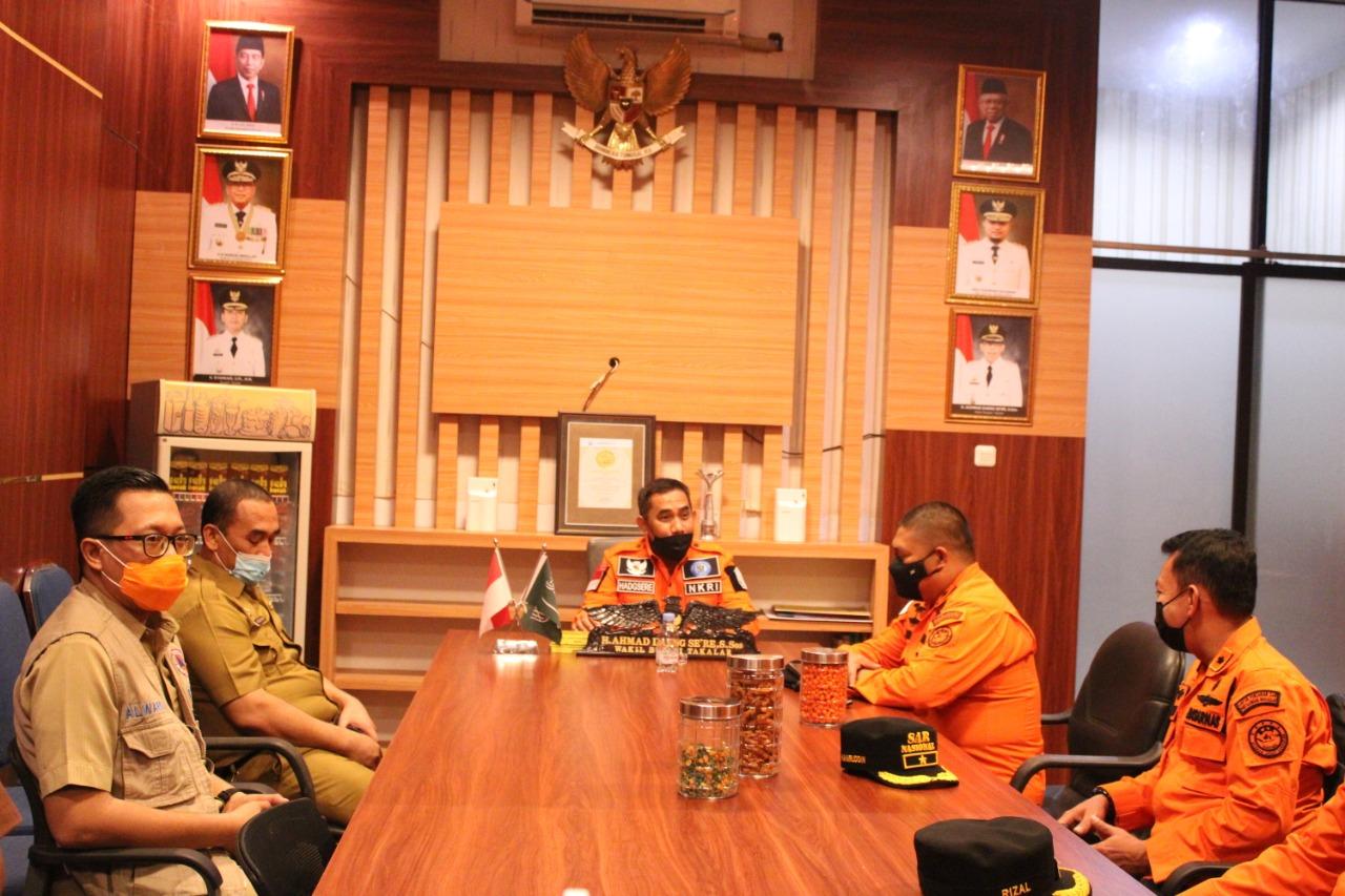 Kepala Basarnas Sulsel Dr Djunaidi menemui Wabup Takalar terkait rencana pembangunan Pokso Basarnas di Takalar, Selasa 18 Mei 2021. (Ist)
