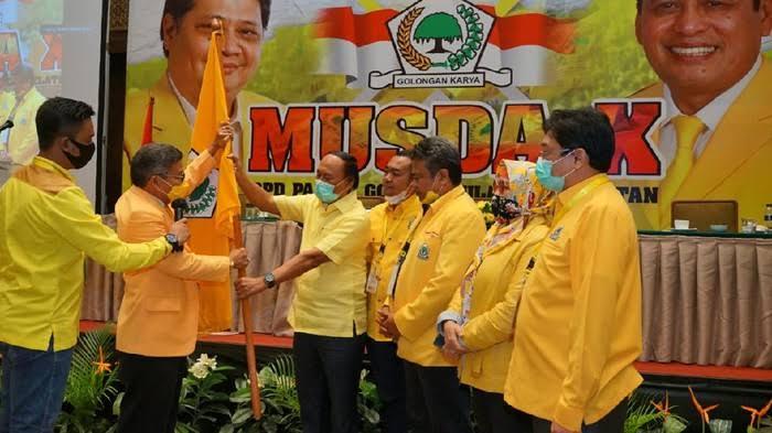 Ketua DPD I Golkar Sulsel Taufan Pawe saat terpilih secara aklamasi di Jakarta, awal Agustus 2020 lalu. (Ist)