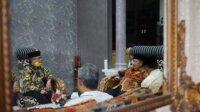 Ketua DPD I Partai Golkar Amin Syam bertemu dengan mantan Gubernur Sulsel Amin Syam. (Ist)
