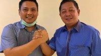 Ketua DPW Nasdem Rusdi Masse bersama Ketua Gerindra Sulsel Andi Iwan Aras di Jakarta, Jumat 26 Juni 2020. (Ist)