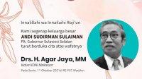 Ketua KONI Makassar Agar Jaya meninggal, Plt Gubernur Sulsel Andi Sudirman Sulaiman berkabung. (Int)