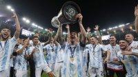 Lionel Messi akhirnya sukses membawa Argentina juara di ajang Copa America, Minggu 11 Juli 2021. (Int)