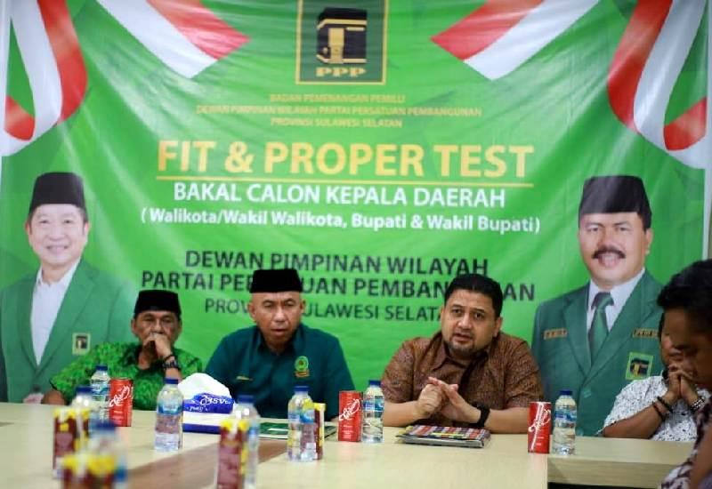Munafri Arifuddin saat mengikuti fit and proper test di PPP beberapa waktu lalu. (Int)