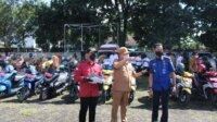 Pemeriksaan kendaraan dinas di halaman kantor Bupati Takalar, Senin 19 April 2021. (Ist)