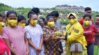 Pengurus KPPG Sulsel berbagi daging kurban hingga ke TPA Tamangapa, Manggala Makassar, Rabu 21 Juli 2021. (Ist)