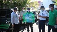 Pj Walikota Makassar, Prof Yusran Jusuf melaunching hygine transportation, Jumat 5 Juni 2020. (Ist)