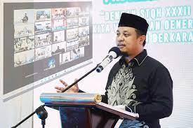 Plt Gubernur Sulsel Andi Sudirman Sulaiman saat membuka STQH di Sidrap lewat virtual, Kamis 3 Juni 2021 malam. (Int)
