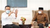 Plt Gubernur Sulsel bersama Walikota Parepare HM Taufan Pawe, Sabtu 17 April 2021. (Ist)