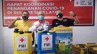 Prosesi penyerahan bantuan PMI dan BNPB ke sejumlah rumah ibadah di Makassar. (ist)