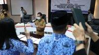 Sekkot Makassar Muh Ansar mengambil sumpah 461 PNS baru, Selasa 7 Juli 2020. (Ist)
