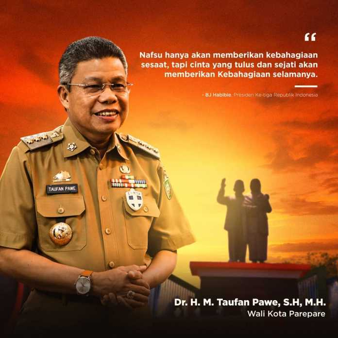 Walikota Parepare Taufan Pawe. (Ist)
