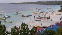 Wisata Pantai Bira mulai ramai pengunjung pasca ditutup beberapa waktu lalu. (Int)